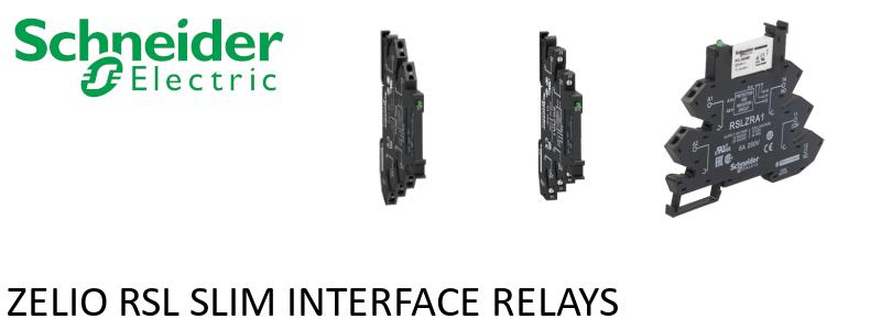 Schneider Zelio RSL relays